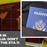 Tourism in Australia: don't forget the ETA !!!