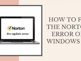 How to fix the Norton Error on Windows 10?